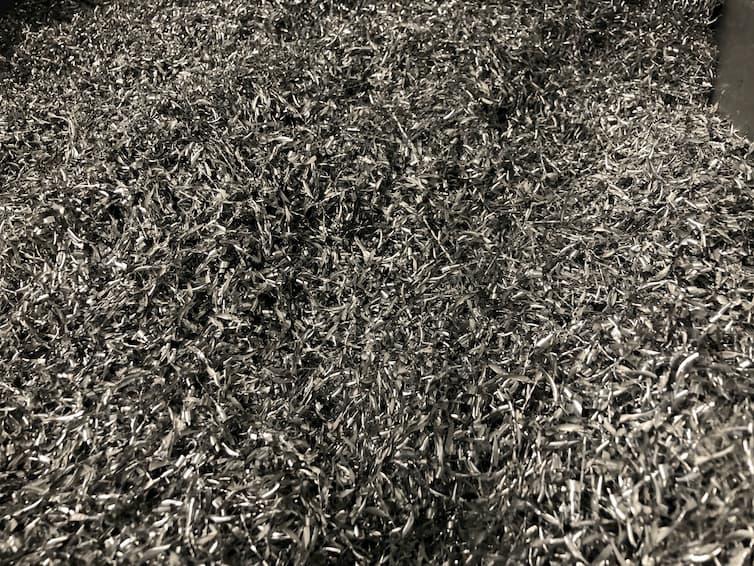 Viruta de mecanizado de aluminio